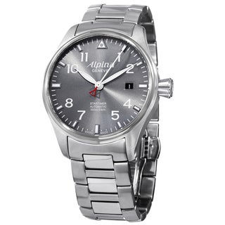 Alpina Men's AL-525G3S6B 'SmartimerPilot' Grey Dial Stainless Steel Bracelet Automatic Watch