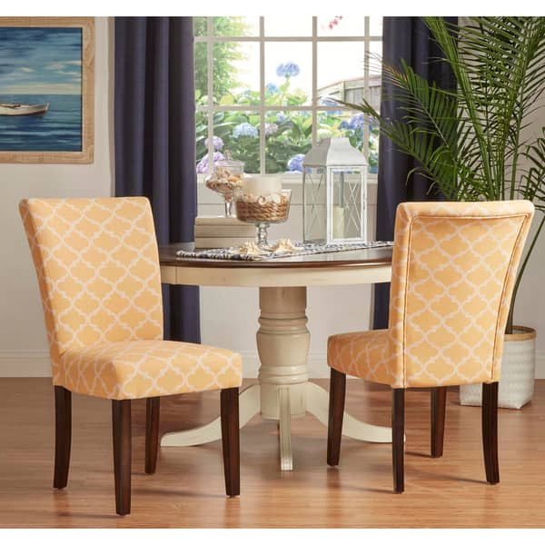 Catherine Moroccan Pattern Fabric Parsons Dining Chair Set Of 2 By Inspire Q Bold On Sale Overstock 10155882