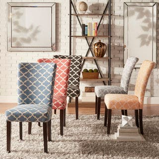 dining room sets with fabric chairs. Catherine Moroccan Pattern Fabric Parsons Dining Chair  Set of 2 by iNSPIRE Q Bold Kitchen Room Chairs For Less Overstock com