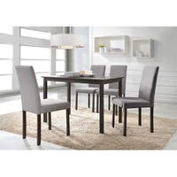 Porch & Den Oltorf Grey Fabric Upholstered Solid Wood 5-piece Dining Set