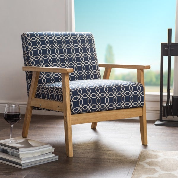 Ayleward navy blue leisure armchair for small space living for Small blue armchair