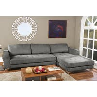 Agnew Contemporary Charcoal/Grey Fabric Right Facing Sectional Sofa
