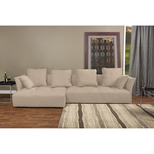 Pictures On Beige Facing Sectional Microfiber Sectional