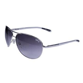 Gotz Switzerland Silvertone Aviator Sunglasses
