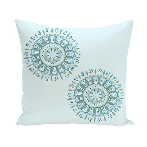 Decorative Outdoor Dual Geometric Burst 20-inch Pillow
