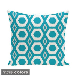 Decorative Outdoor Geometric Honeycomb 20-inch Pillow