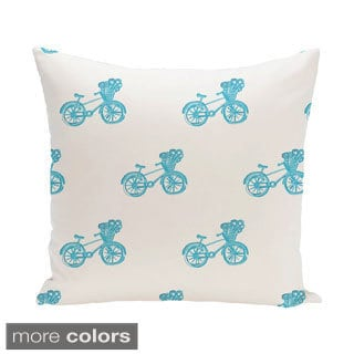 Decorative Outdoor Novelty Bicyle Print 20-inch Pillow
