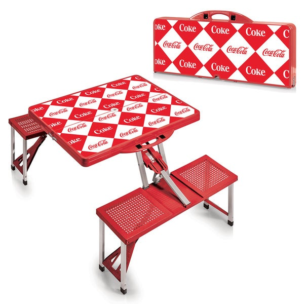 Shop Picnic Time Coca Cola Theme Picnic Table Free