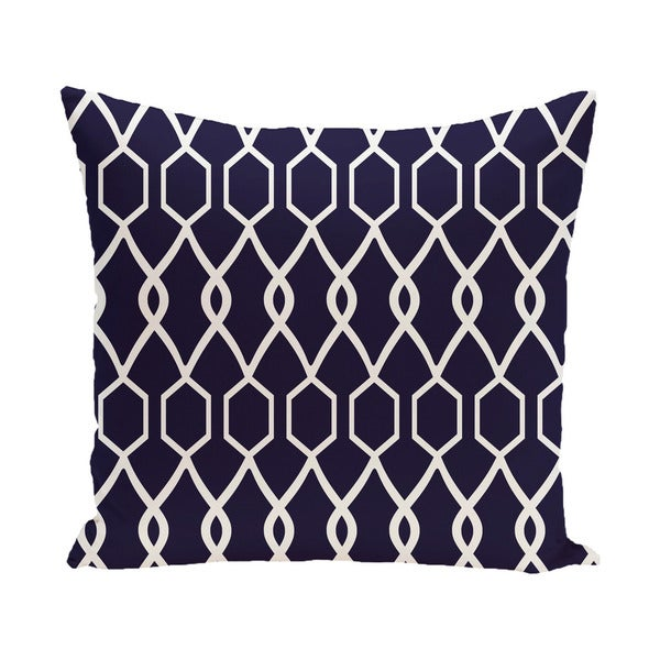 Decorative Outdoor Geometric Trellis Print 20-inch Pillow