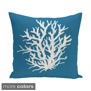 Decorative Outdoor Coral Print 20-inch Pillow