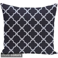 Decorative Outdoor Geometric Moroccan Print 20-inch Pillow