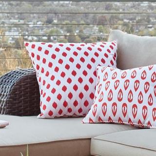 Decorative Outdoor Static Polk-dot Print 20-inch Pillow