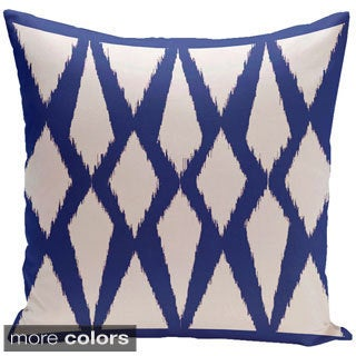 Decorative Outdoor Abstract Geometric Print 20-inch Pillow