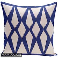 Decorative Indoor/Outdoor Abstract Geometric Print 20-inch Throw Pillow
