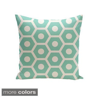Decorative Outdoor Large Honeycomb Print 20-inch Pillow