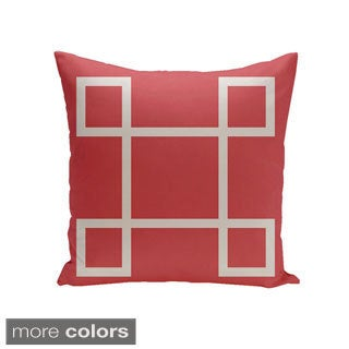 Decorative Outdoor Geometric Sqaure 20-inch Pillow