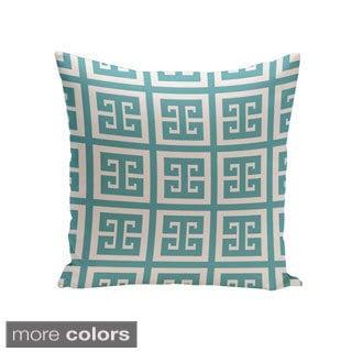 Decorative Outdoor Greek Key 20-inch Pillow