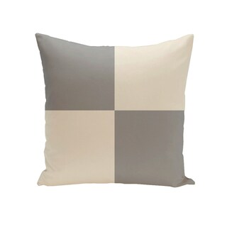 Decorative Outdoor Checkered Print 20-inch Pillow (Option: Silver)
