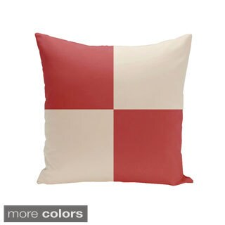 Decorative Outdoor Checkered Print 20-inch Pillow