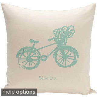 Decorative Outdoor Novelty Bike Print 20-inch Pillow