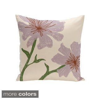 Decorative Outdoor Floral Print 20-inch Pillow