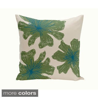 Decorative Outdoor Tri-floral Print 20-inch Pillow