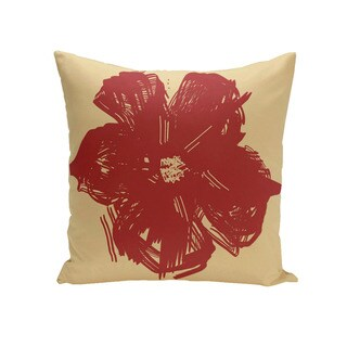 Decorative Outdoor Abstract Floral Print 20-inch Pillow