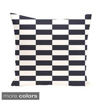 Decorative Outdoor Mixed Striped Print 20-inch Pillow