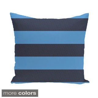 Decorative Outdoor Horizontal Stripe 20-inch Pillow