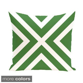 Decorative Outdoor 'X' Stripe Print 20-inch Pillow