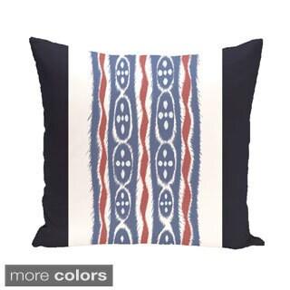 Decorative Outdoor Tribal Stripe Print 20-inch Pillow