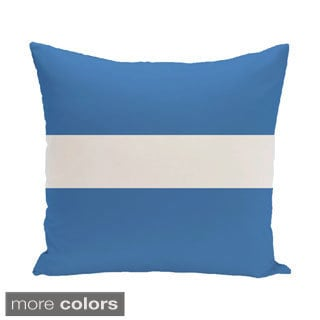 Decorative Outdoor Simple Stripe Print 20-inch Pillow