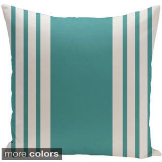 Decorative Outdoor Bordered Stripe Print 20-inch Pillow