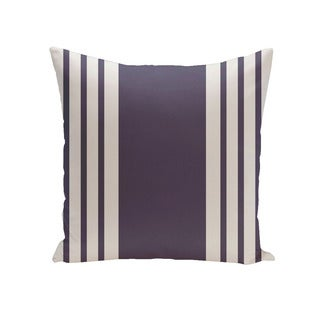 Decorative Outdoor Bordered Stripes 20-inch Pillow