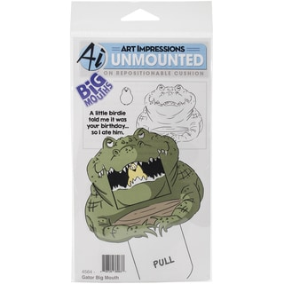 Art Impressions Big Mouths Cling Rubber Stamp 7inX4inGator