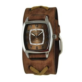 Link to Nemesis Brown Classic Vintage Unisex Watch with Faded Brown X Leather Cuff Band Similar Items in Women's Watches