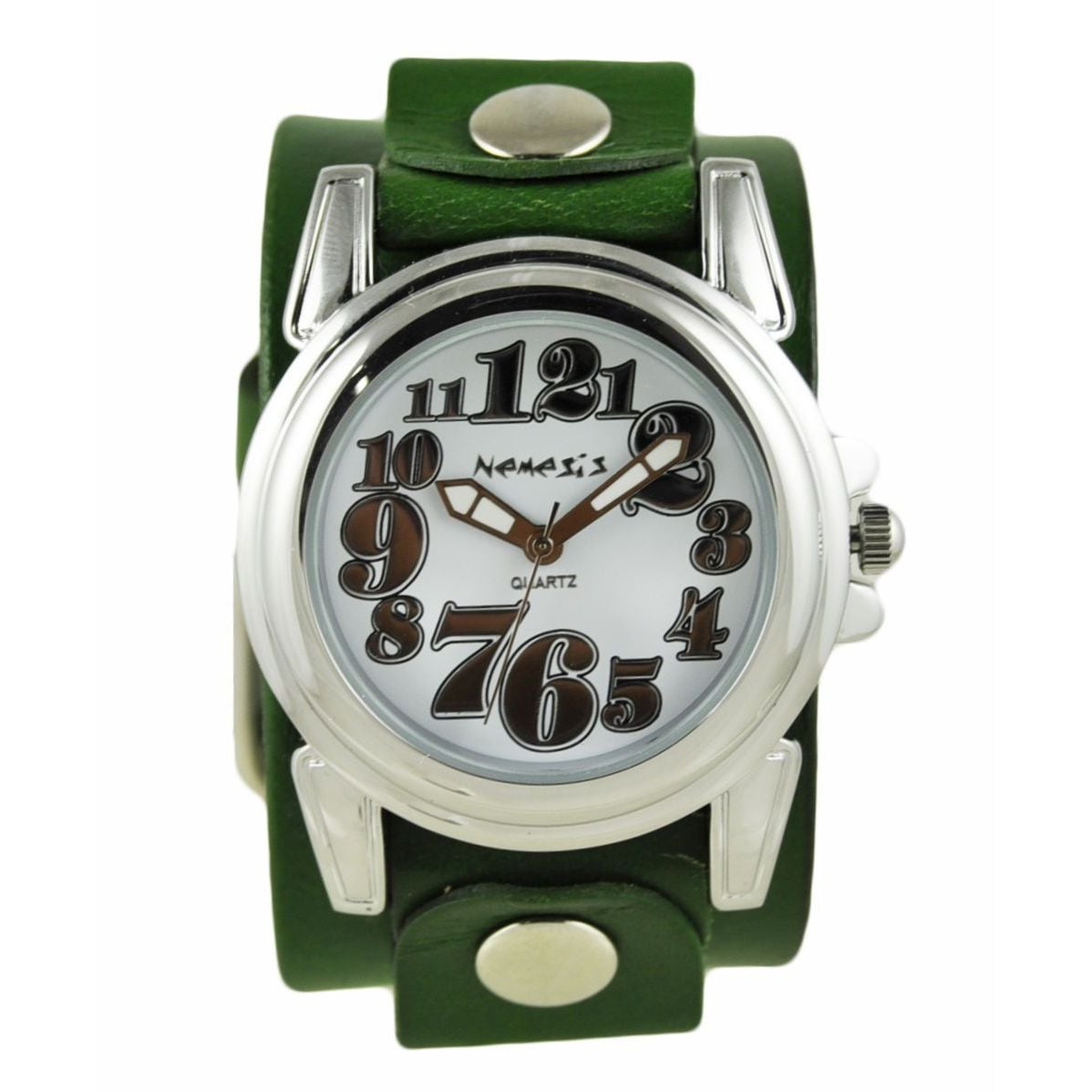 Nemesis Silver 'Trendy' Womens Watch with Green Junior Si...