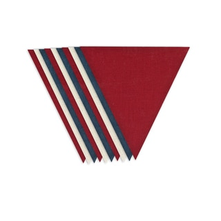 Burlap Red/ Off-white/ Blue V for Banners (10 Pieces)