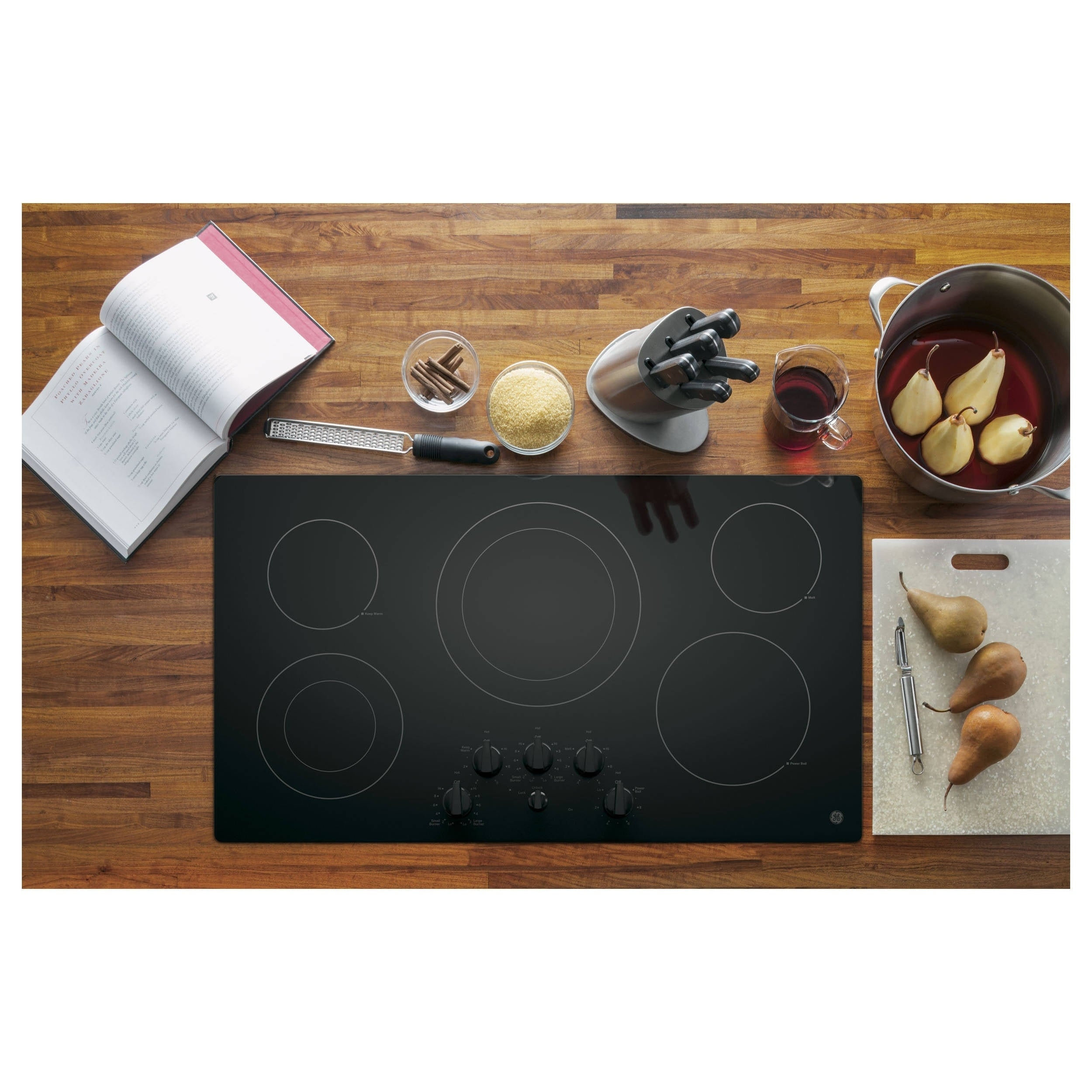 GE 36-inch Smoothtop Electric Cooktop (Black) (Ceramic)