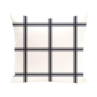 Geometric Print 20 x 20-inch Decorative Pillow (Navy Blue)