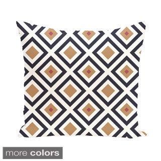 Geometric Print 20 x 20-inch Decorative Pillow