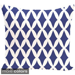 Geometric Print 20 x 20-inch Decorative Pillow