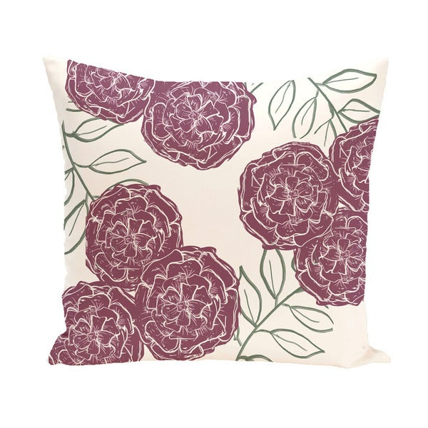 Floral Print 20 x 20-inch Decorative Pillow