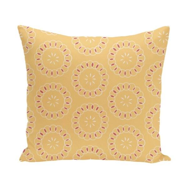Floral Print 20 x 20-inch Decorative Pillow