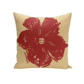 Floral Print 18 x 18-inch Decorative Pillow (Emperor)