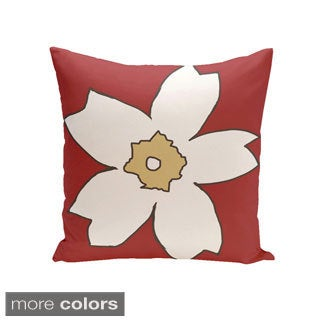 Floral Print 18 x 18-inch Decorative Pillow
