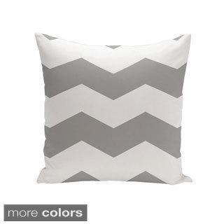 Geometric Print 18 x 18-inch Decorative Pillow