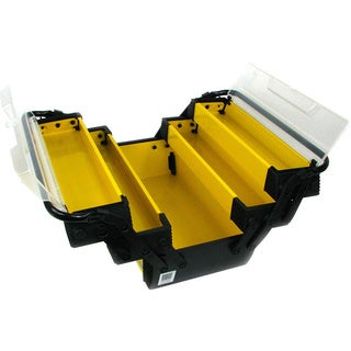 Stalwart Yellow Deluxe Steel and Plastic 18-inch Tool Box