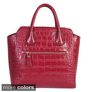 Mllecoco Genuine Leather Textured Structured Tote - Large