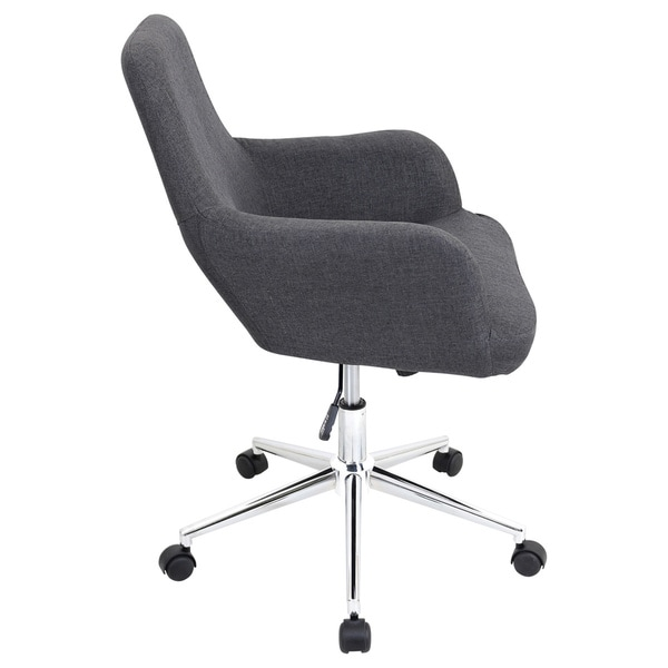 LumiSource Degree Fabric Office Chair   Free Shipping Today   Overstock com    17285772LumiSource Degree Fabric Office Chair   Free Shipping Today  . Grey Fabric Office Chair. Home Design Ideas